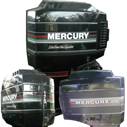 Mercury carb xri efi vented outboard cover tuff for Custom outboard motor decals