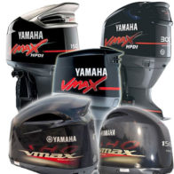 Yamaha Black / Midnight Purple Vented Outboard Covers